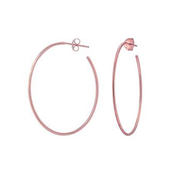 Oval Hoop Earrings D. Geller & Son Jewelers Atlanta, GA