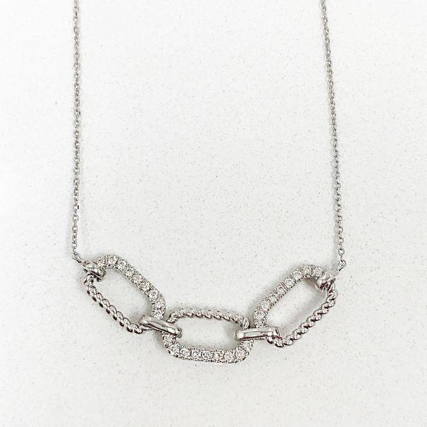 14K Diamond Link Necklace D. Geller & Son Jewelers Atlanta, GA