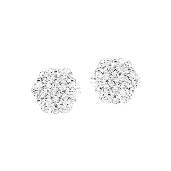 14K Diamond Flower Earrings 1/4 ctw D. Geller & Son Jewelers Atlanta, GA