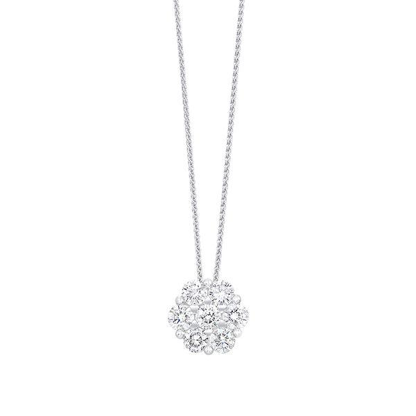 14K Diamond Flower Pendant 1/10 ctw D. Geller & Son Jewelers Atlanta, GA