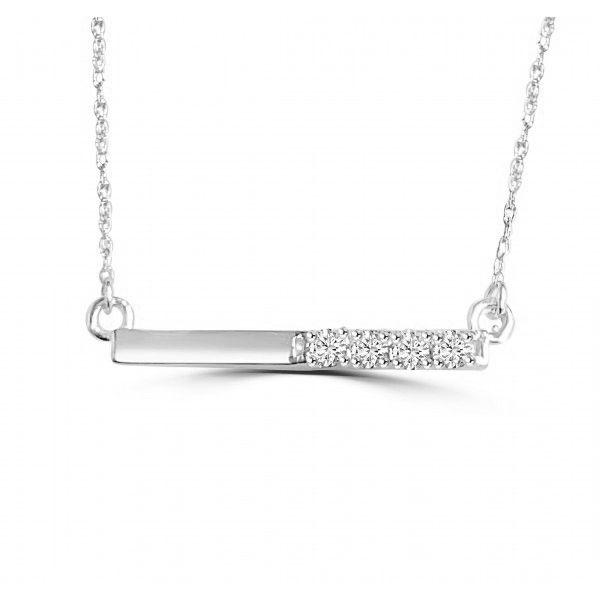 14K Diamond Bar Necklace D. Geller & Son Jewelers Atlanta, GA