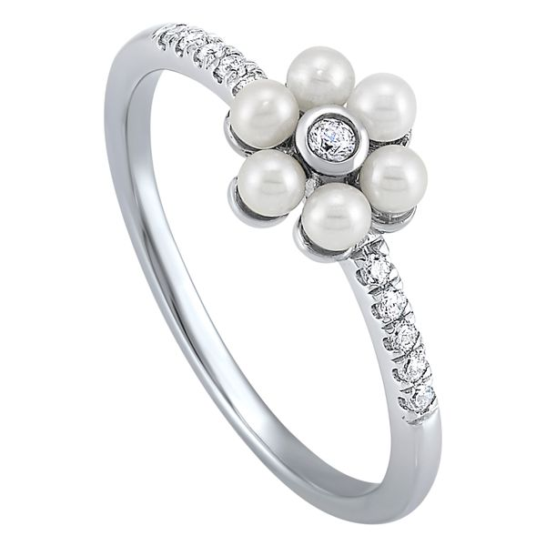 10K Diamond Pearl Ring 1/10 ctw D. Geller & Son Jewelers Atlanta, GA