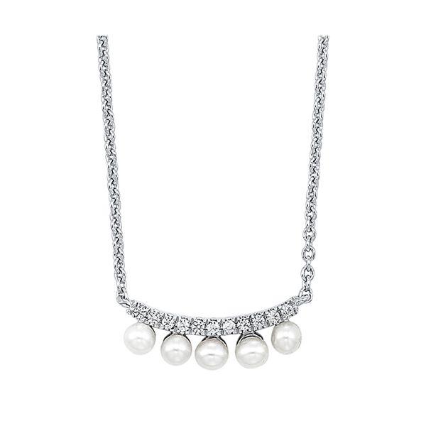 10K Diamond Pearl Pendant 1/20 ctw D. Geller & Son Jewelers Atlanta, GA