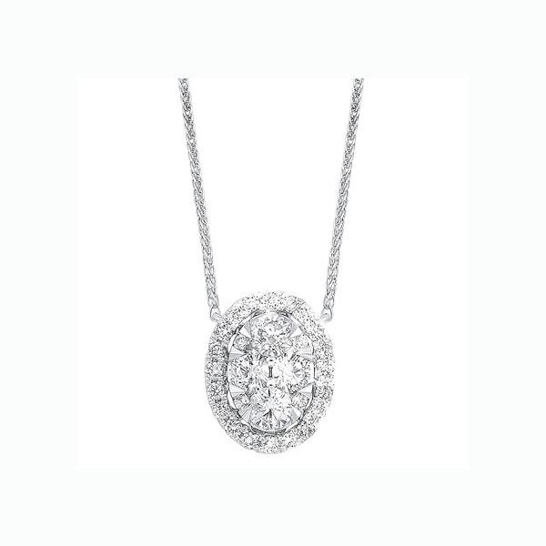 14K Diamond Oval Cluster Pendant 1/3 ctw D. Geller & Son Jewelers Atlanta, GA