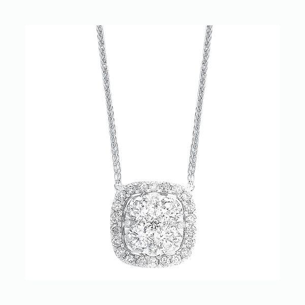 14K Diamond Cushion Cluster Pendant 1/3 ctw D. Geller & Son Jewelers Atlanta, GA