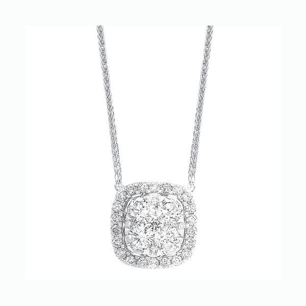14K Diamond Cushion Cluster Pendant 1/2 ctw D. Geller & Son Jewelers Atlanta, GA