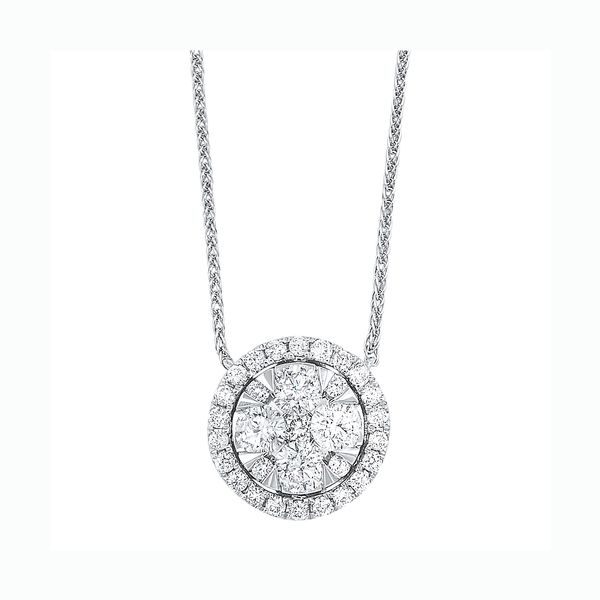 14K Diamond Round Cluster Pendant 1/3 ctw D. Geller & Son Jewelers Atlanta, GA