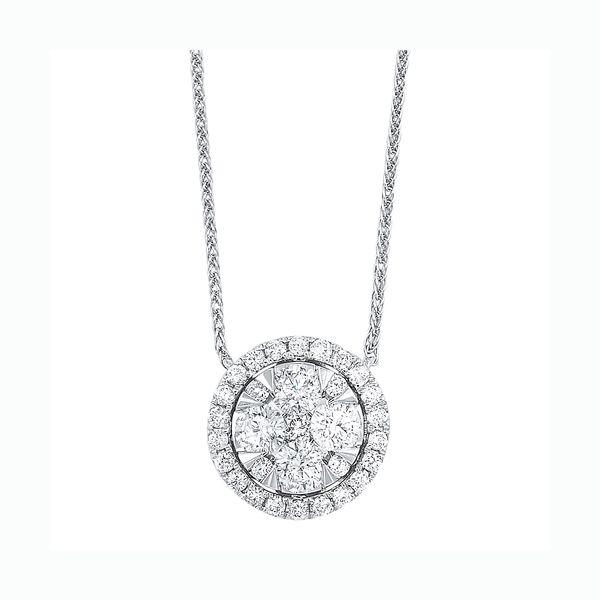 14K Diamond Round Pendant 1/2 ctw D. Geller & Son Jewelers Atlanta, GA
