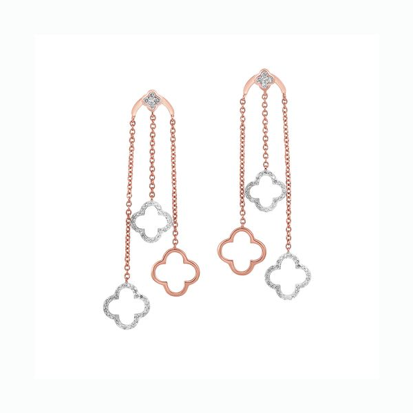 10K Diamond Dangle Earrings 3/8 ctw D. Geller & Son Jewelers Atlanta, GA