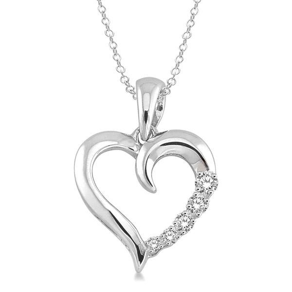 Silver Diamond Heart Pendant D. Geller & Son Jewelers Atlanta, GA