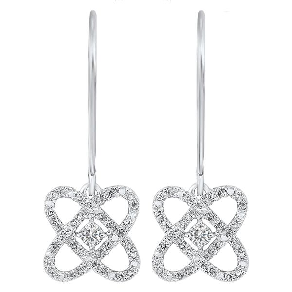 Silver Love's Crossing Earrings 1/4 ctw D. Geller & Son Jewelers Atlanta, GA