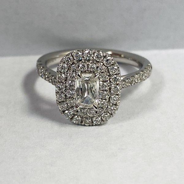 14K Double Cushion Halo Ring 1 ctw D. Geller & Son Jewelers Atlanta, GA
