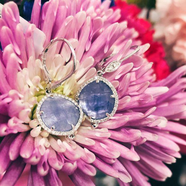 14K Diamond Tanzanite Earrings D. Geller & Son Jewelers Atlanta, GA