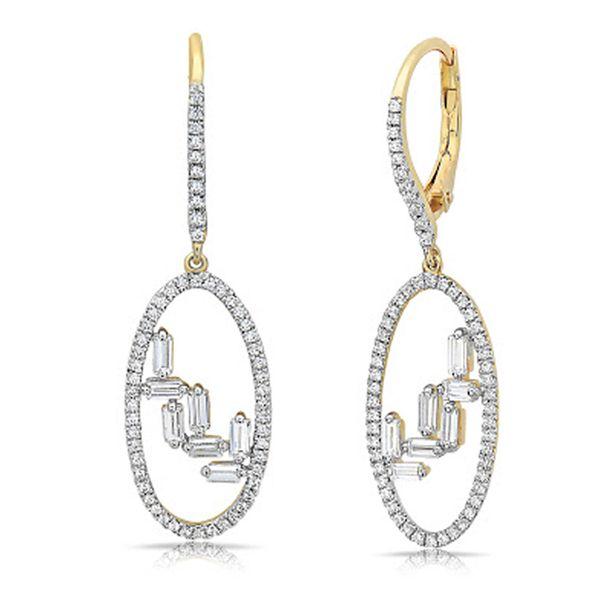 14K Diamond Dangle Earrings D. Geller & Son Jewelers Atlanta, GA