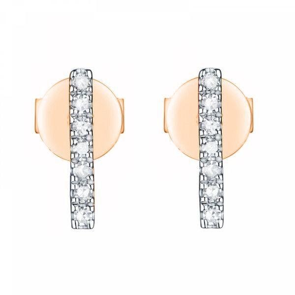 14K Diamond Bar Earrings D. Geller & Son Jewelers Atlanta, GA