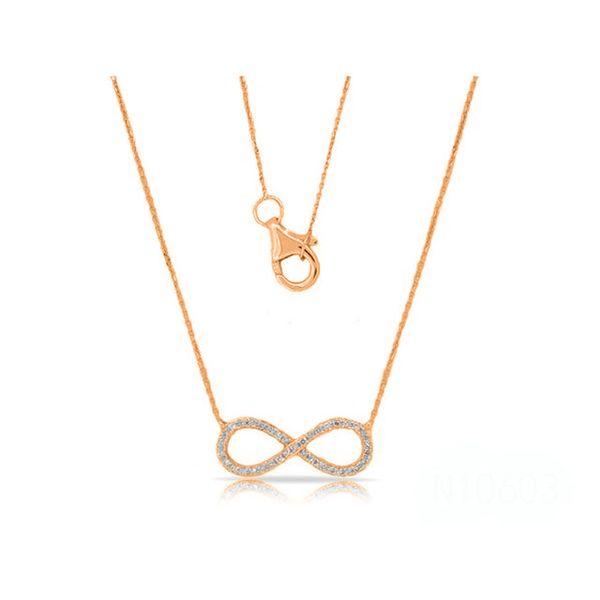14K Diamond Infinity Necklace D. Geller & Son Jewelers Atlanta, GA