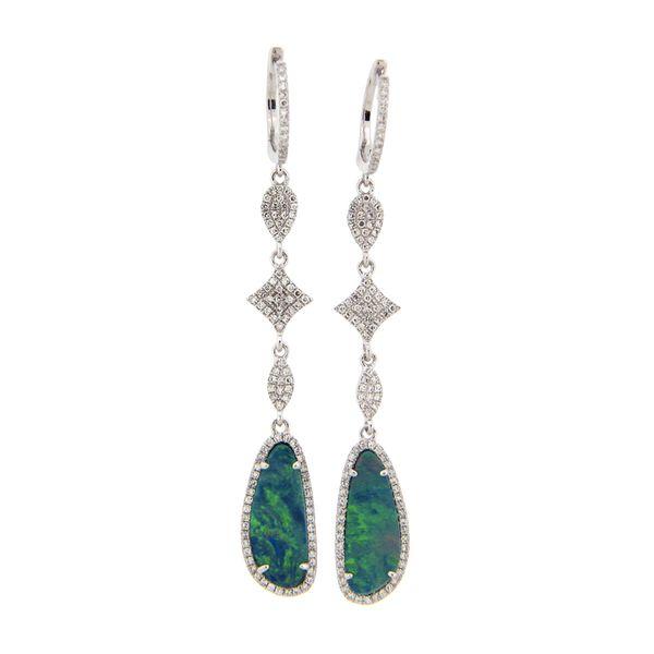 14K Black Opal & Diamond Earrings D. Geller & Son Jewelers Atlanta, GA