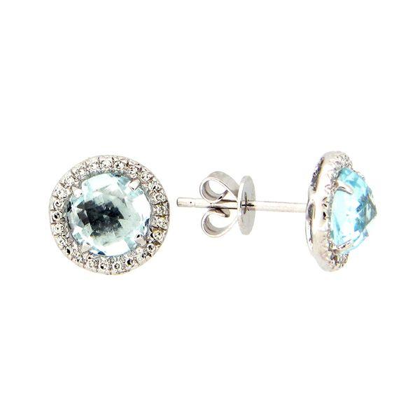 14K Blue Topaz & Diamond Earrings D. Geller & Son Jewelers Atlanta, GA