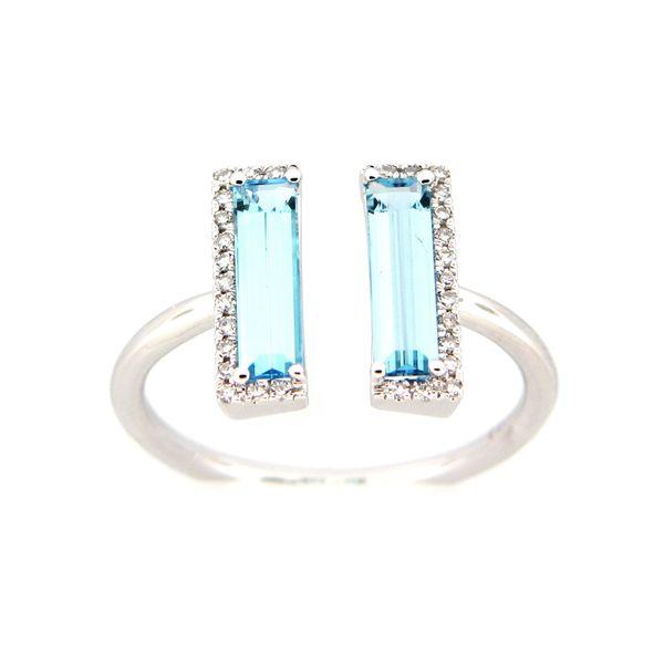 14K Blue Topaz & Diamond Ring D. Geller & Son Jewelers Atlanta, GA