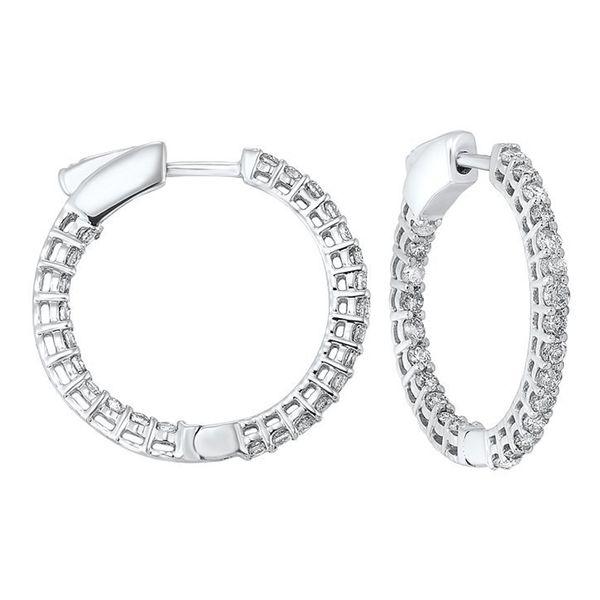 14K Diamond Inside-Out Hoops 2ctw D. Geller & Son Jewelers Atlanta, GA