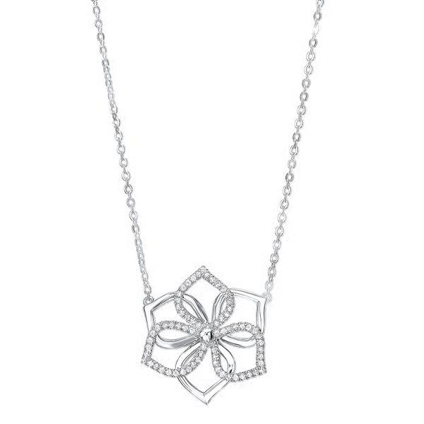 Silver Diamond Necklace 1/5 ctw D. Geller & Son Jewelers Atlanta, GA