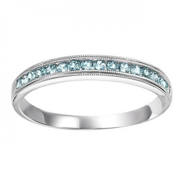 10K Aquamarine Mixable Ring D. Geller & Son Jewelers Atlanta, GA