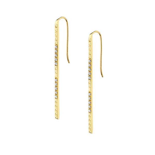 14K Diamond MM Earrings D. Geller & Son Jewelers Atlanta, GA