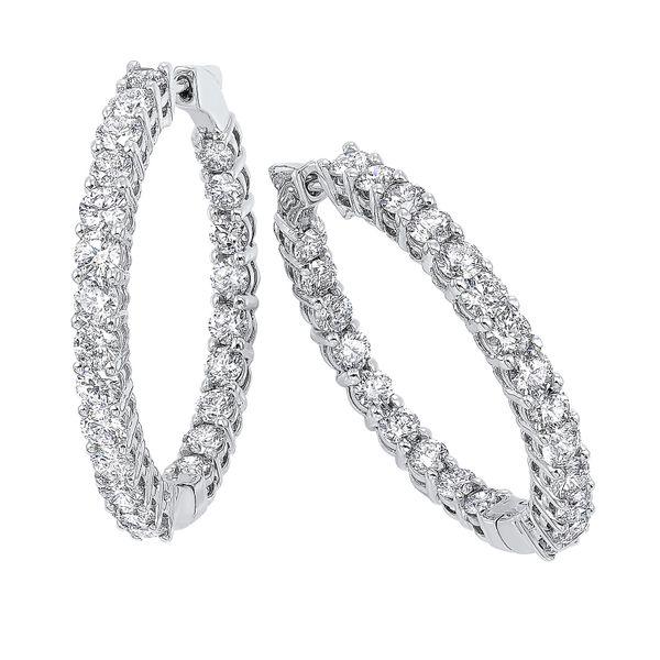 14K Diamond Inside-Out Round Hoops 3ctw D. Geller & Son Jewelers Atlanta, GA