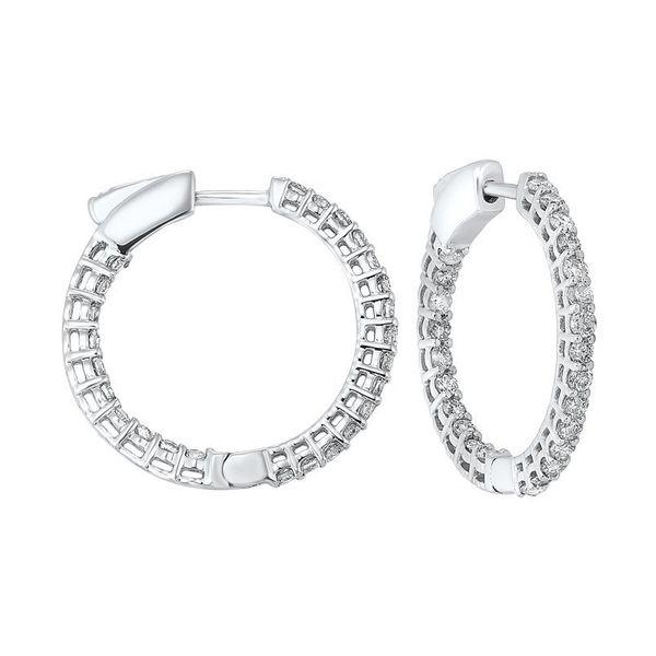 14K Diamond Inside-Out Hoops 1ctw D. Geller & Son Jewelers Atlanta, GA