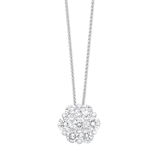 14K Diamond Flower Pendant 1/2 ctw D. Geller & Son Jewelers Atlanta, GA