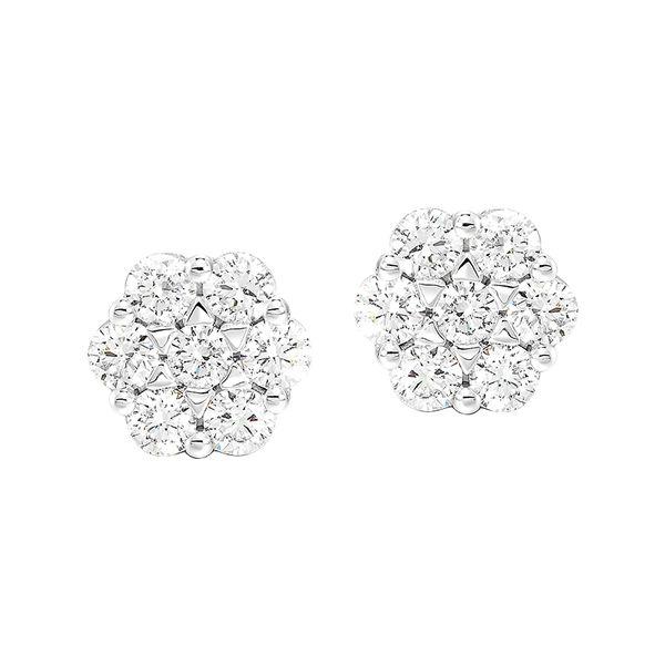 14K Diamond Flower Earrings 1/2 ctw D. Geller & Son Jewelers Atlanta, GA