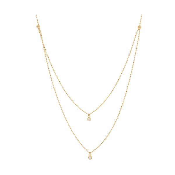 14K Double Strand Diamond Necklace  D. Geller & Son Jewelers Atlanta, GA