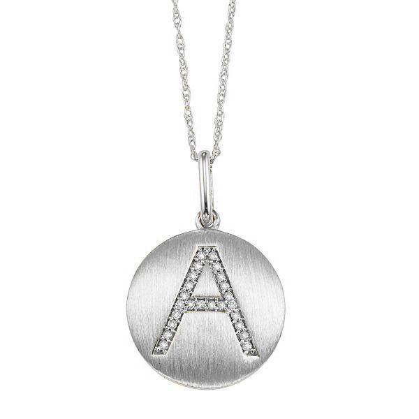 "10KW Diamond Initial Pendant ""A"" D. Geller & Son Jewelers Atlanta, GA"