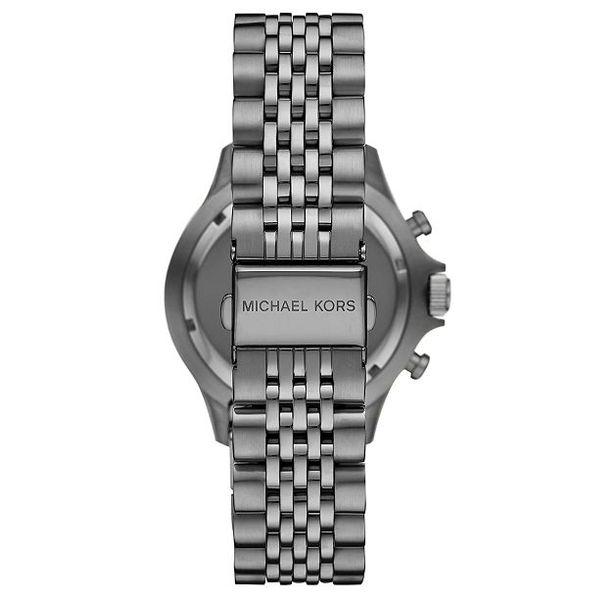 Michael Kors Men's Bayville Chronograph Gunmetal Stainless Steel Watch Image 3 Diamonds Direct St. Petersburg, FL