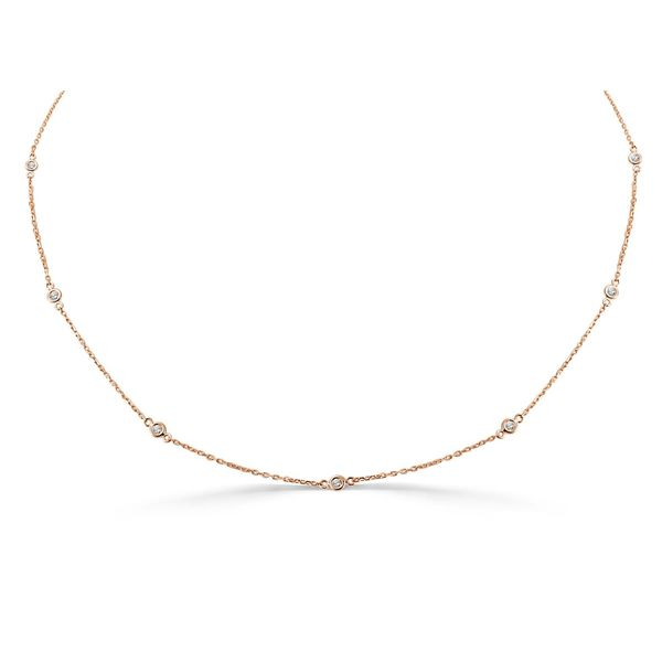 14k Rose Gold Diamond Necklace  Diamonds Direct St. Petersburg, FL