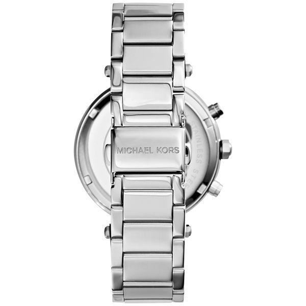 Women's Chronograph Parker Stainless Steel Bracelet Watch  Image 3 Diamonds Direct St. Petersburg, FL