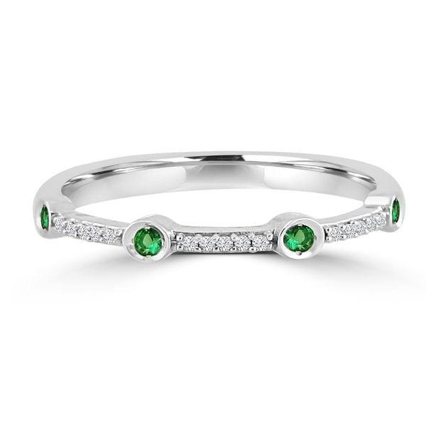 10K White Gold Emerald and Diamond Ring Diamonds Direct St. Petersburg, FL