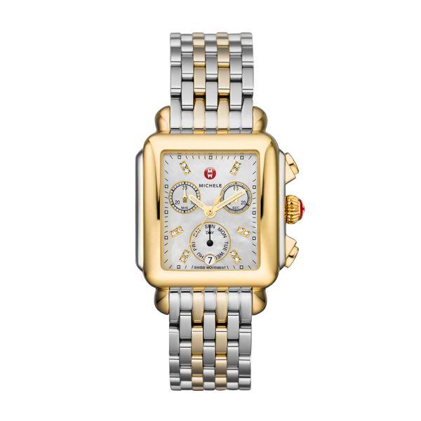 Deco Non-Diamond Two-Tone, Diamond Dial Two Tone Complete Watch Diamonds Direct St. Petersburg, FL