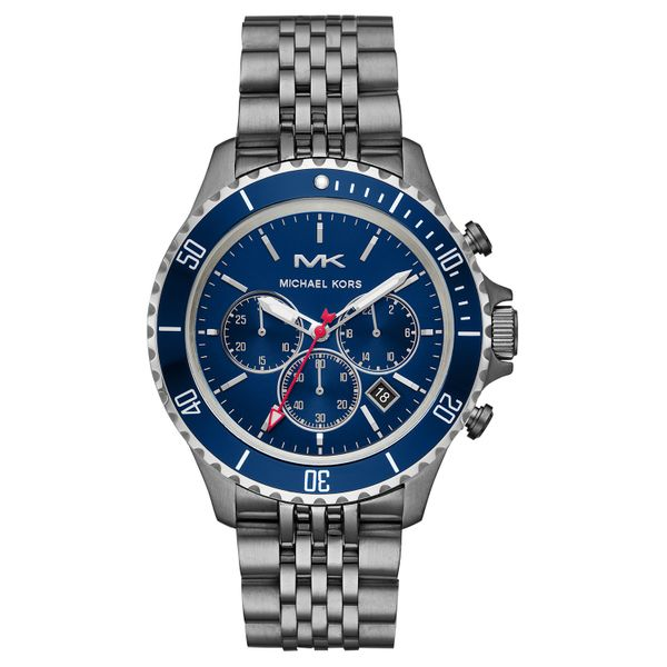 Michael Kors Men's Bayville Chronograph Gunmetal Stainless Steel Watch Diamonds Direct St. Petersburg, FL