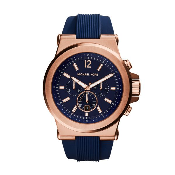 Michael Kors Rose Gold and Navy Watch Diamonds Direct St. Petersburg, FL