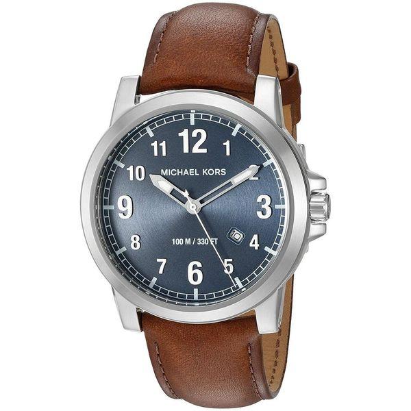 Michael Kors Men's 'Paxton' Brown Leather Watch Diamonds Direct St. Petersburg, FL
