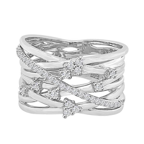 10K White Gold and Diamond Ring Diamonds Direct St. Petersburg, FL