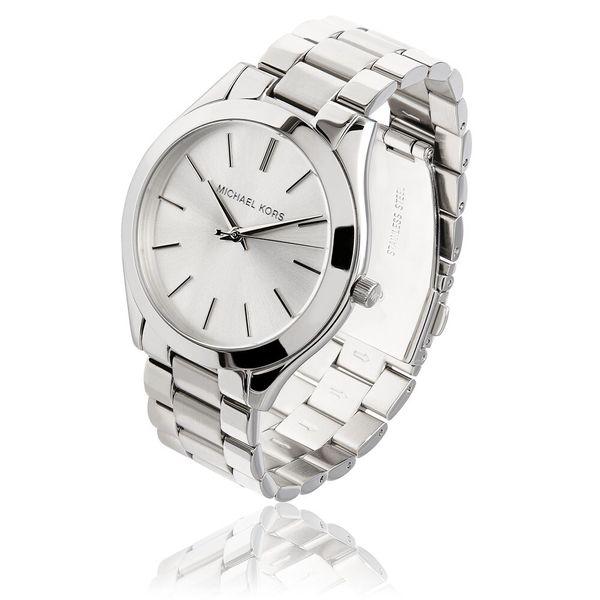 Michael Kors Women's Stainless Steel 'Runway' Watch - Silver Image 2 Diamonds Direct St. Petersburg, FL