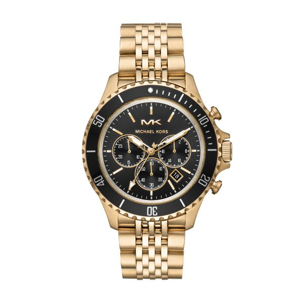 Michael Kors Gold and Black Watch  Diamonds Direct St. Petersburg, FL