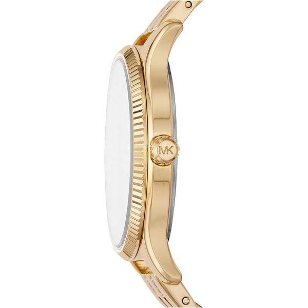Michael Kors Lexington Three-Hand Gold-Tone Stainless Steel Watch Giftset Image 2 Diamonds Direct St. Petersburg, FL
