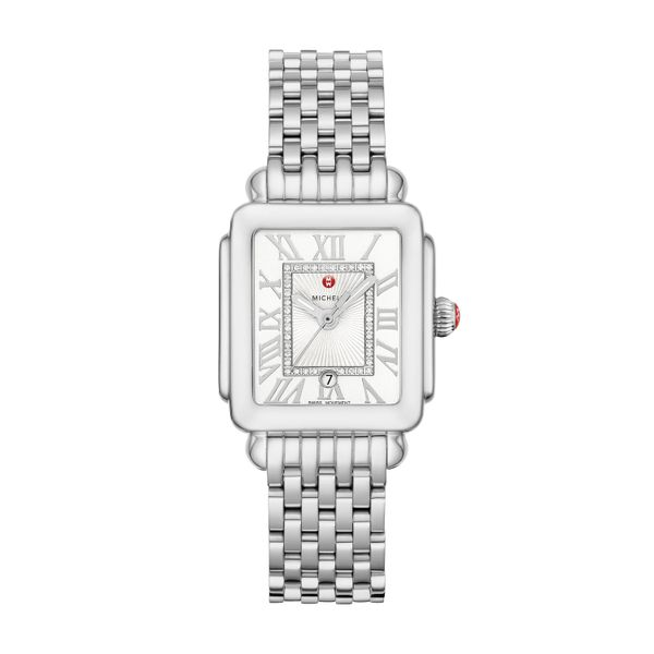 Deco Madison Mid Stainless Steel Diamond Dial Complete Watch Diamonds Direct St. Petersburg, FL