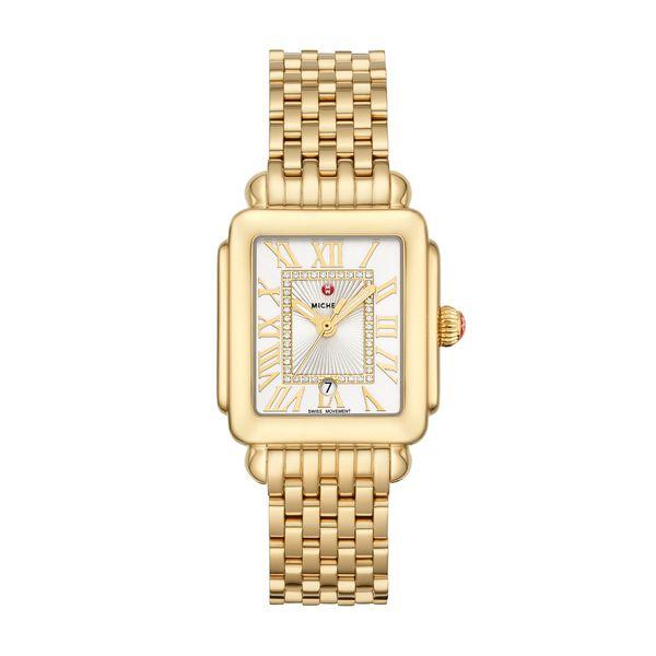 Deco Madison Mid Gold Diamond Dial Complete Watch Diamonds Direct St. Petersburg, FL