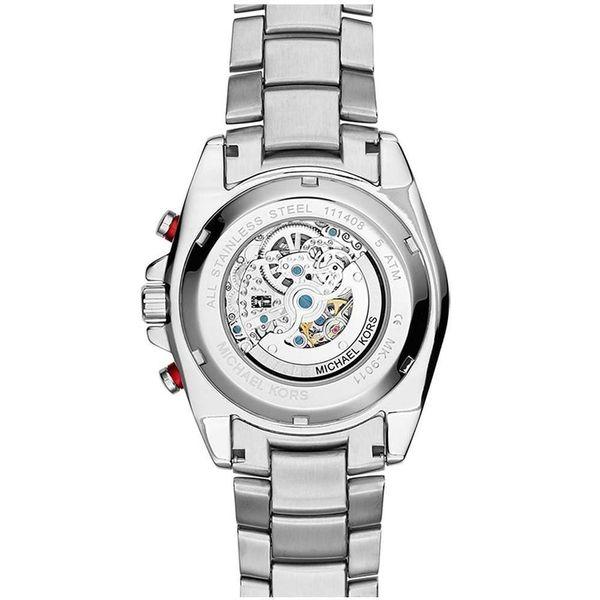 Michael Kors Men's Jet Master Automatic Multi-Function Skeletal Dial Stainless Steel Bracelet Watch Image 3 Diamonds Direct St. Petersburg, FL