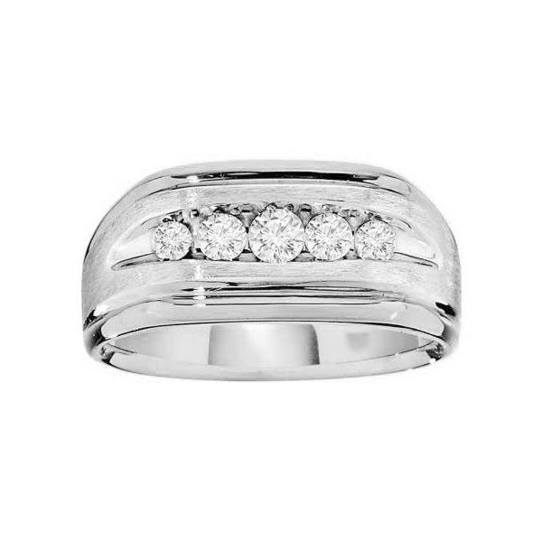 14K White Gold and Diamond Mens Ring Diamonds Direct St. Petersburg, FL
