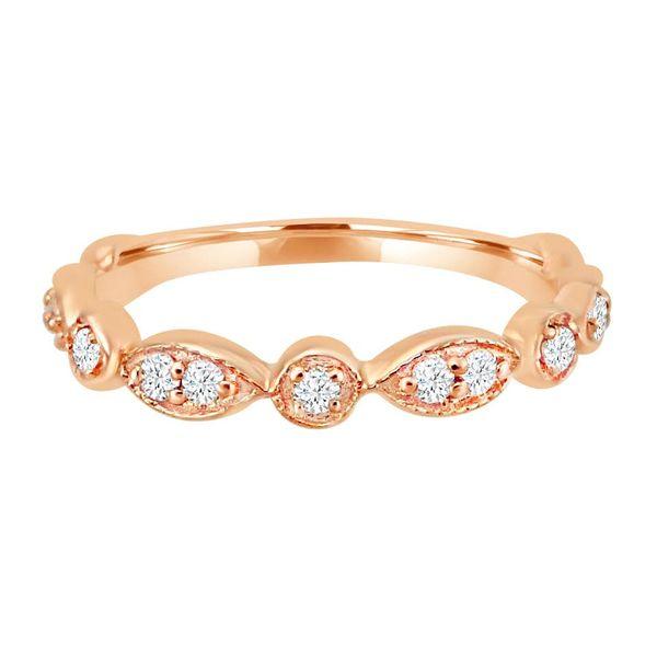 14K Rose Gold and Diamond Ring Diamonds Direct St. Petersburg, FL